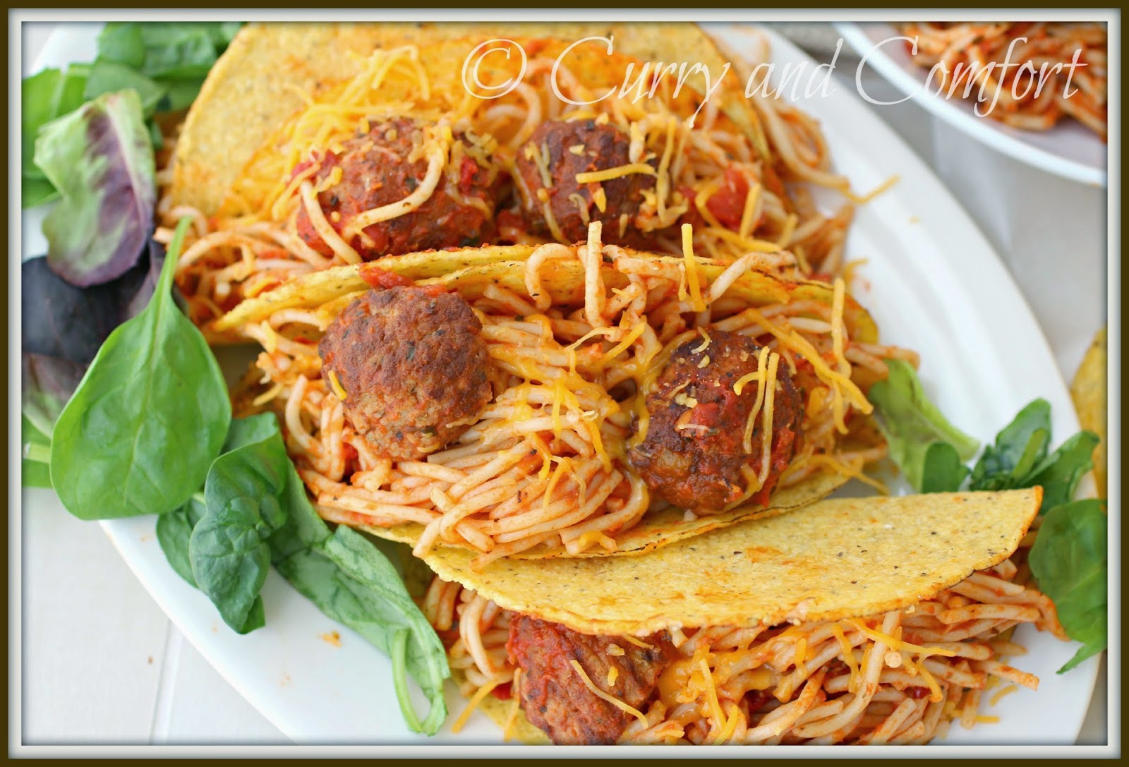 Kitchen Simmer Spaghetti And Meatball Tacos