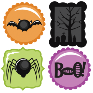 Halloween Icons by Miss Kate Cuttables