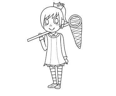#16 Animal Crossing Coloring Page