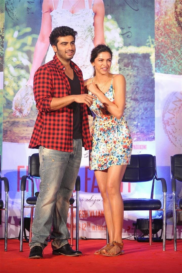 Deepika Padukone & Arjun Kapoor At Song Launch Of 'Finding Fanny'
