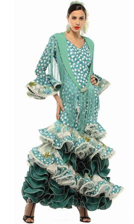 traje de flamenca El Corte Inglés 2013 color verde