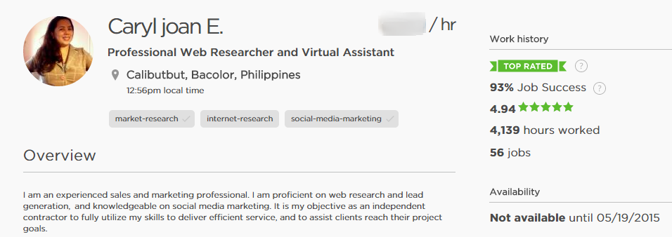 Virtual Talent Philippines: Top Rated Badge on Upwork: What It ...