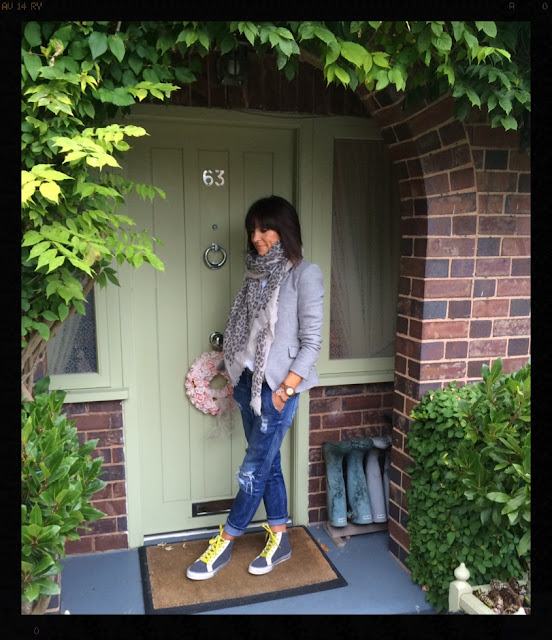 My Midlife Fashion, Boden Hi Tops, Leopard Print, Animal Print, Massimo Dutti, Zara, Distressed Denim