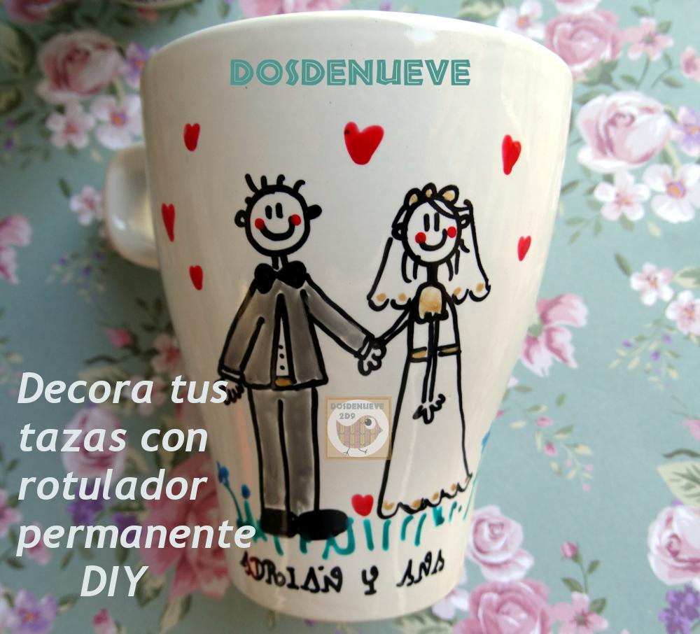 Decorar tazas con rotulador permanente diy - Como decorar una taza ...
