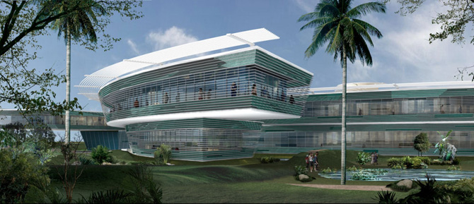 Luxury modern panoramic hotel architecture design india for Modern hotel
