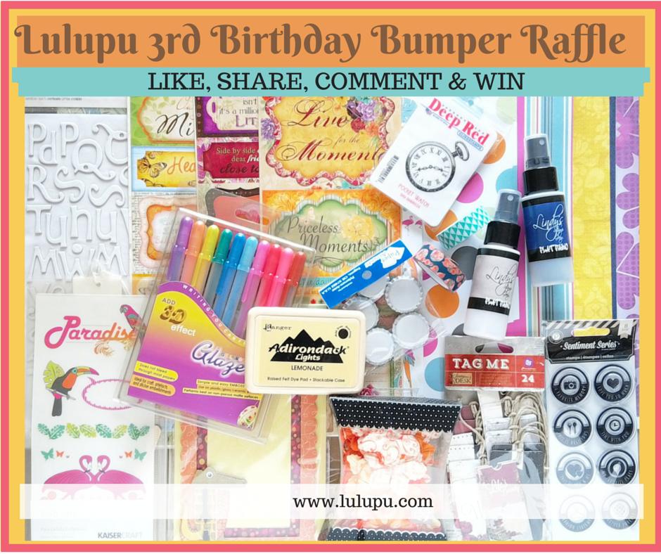 Lulupu 3rd Birthday Bash Bumper Raffle