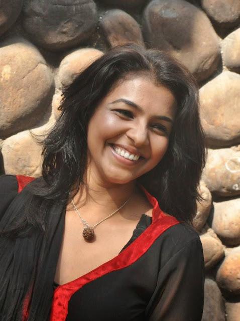 Actress Saranya Stills in Black Dress