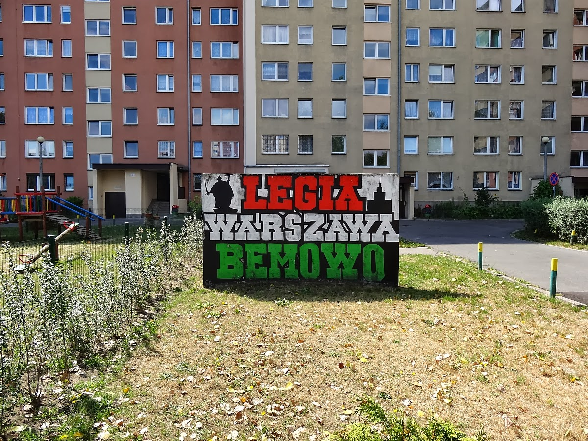 Murale bemowskich fanatyk w legii warszawa ci g dalszy for Mural warszawa 44