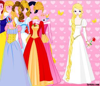 Juego de moda y vestir a las princesas Disney