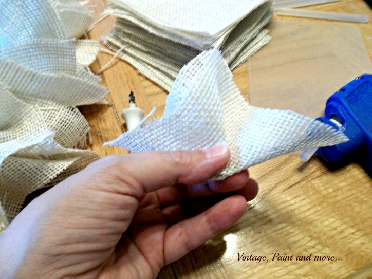 Vintage, Paint and more... steps to making a burlap wreath