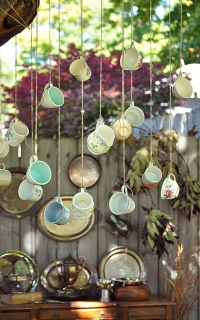 Dishfunctional designs crafts home decor made with for Cup decorating ideas