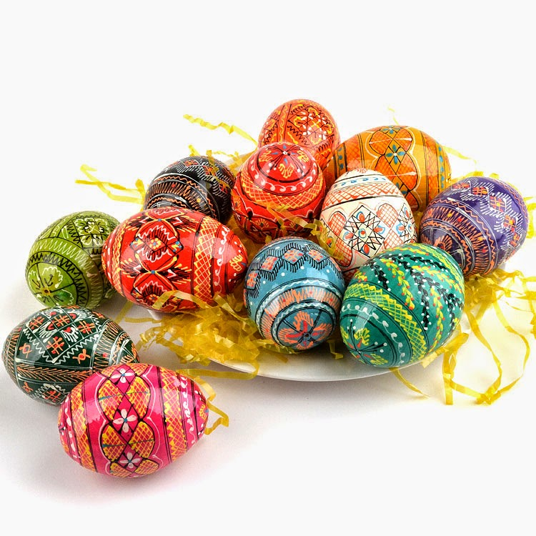 Pysanky eggs - Handpainted eggs from Russia