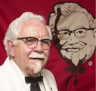kfc colonel saunders white suit