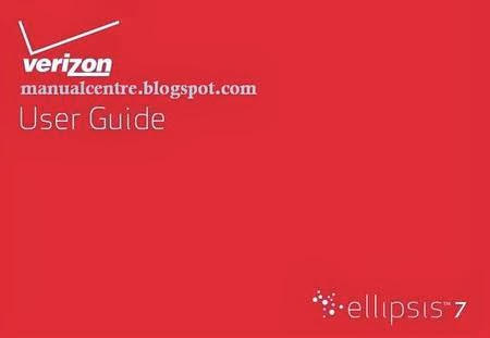 Verizon Wireless Ellipsis 7 Manual Cover