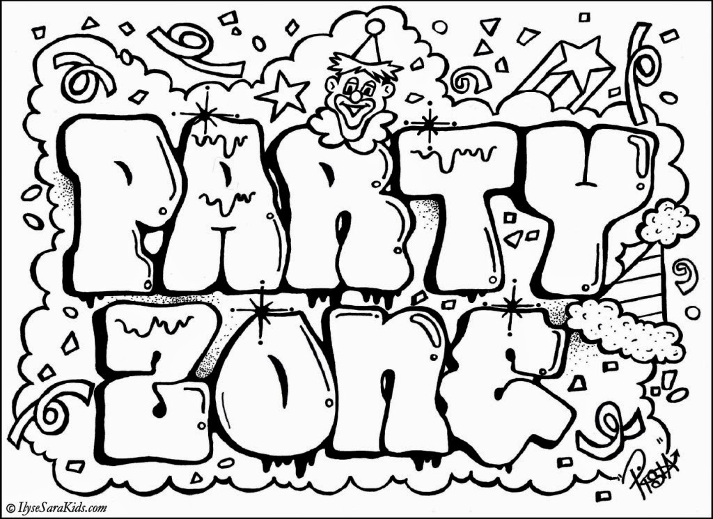 coloring graffiti pages online - photo#6