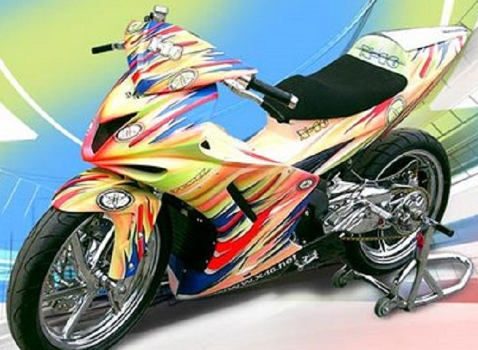 50+ Modifikasi Motor Yamaha Jupiter Z Terkeren 9 Out Of 10 Based On 10  title=