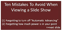 slide show rules