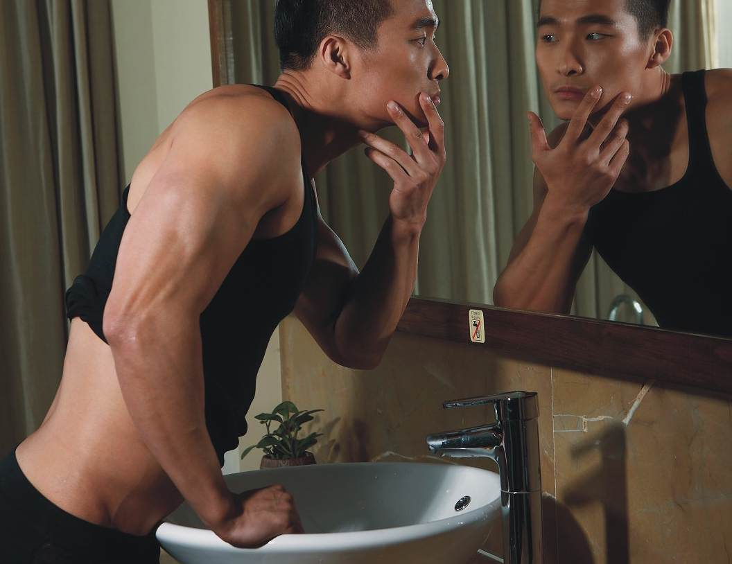 Male Sight of Asian Model Jin Xiankui For Tiku Underwear Ad Campaign