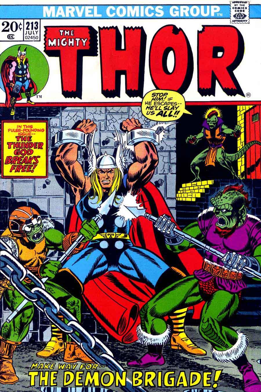 Comic Book Cover Art : Thor jim starlin cover pencil ink
