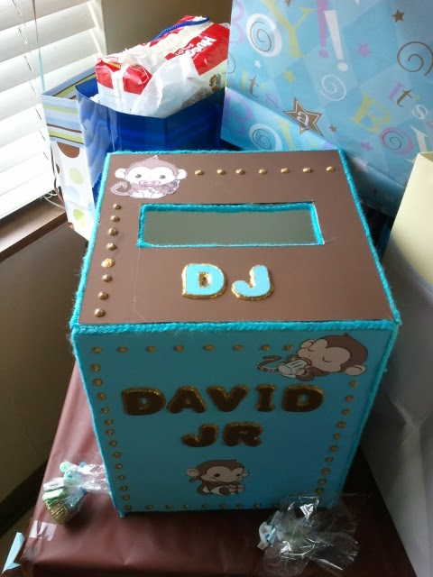 Baby Shower. Top Of Card Box