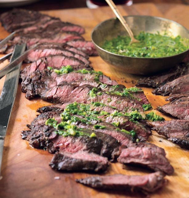 grill any type of meat cut, from steaks to ribs. I prefer skirt steak ...