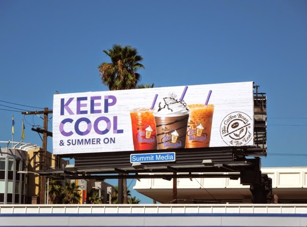 Coffee Bean Tea Leaf Keep cool Summer on billboard