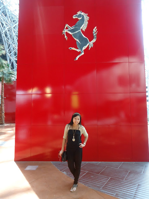 Ferrari Logo everywhere in Ferrari World Yas Island Abu Dhabi