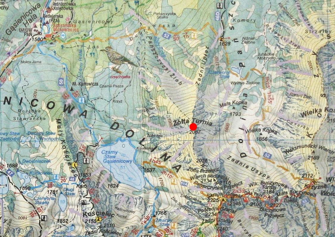 Żółta Turnia na mapie