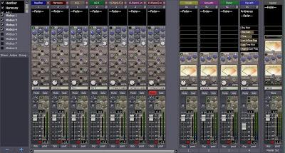 Harrison Mixbus - mixer view
