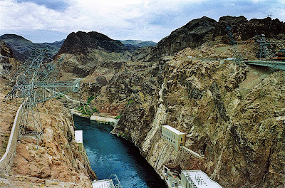 From Hoover Dam looking at Colorado River