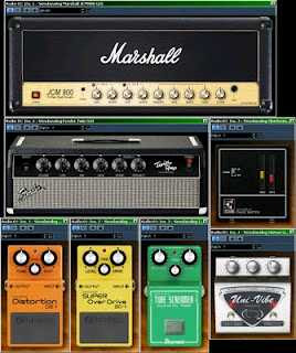 Simulatore effetti chitarra elettrica, acustica, Boss, Marshall