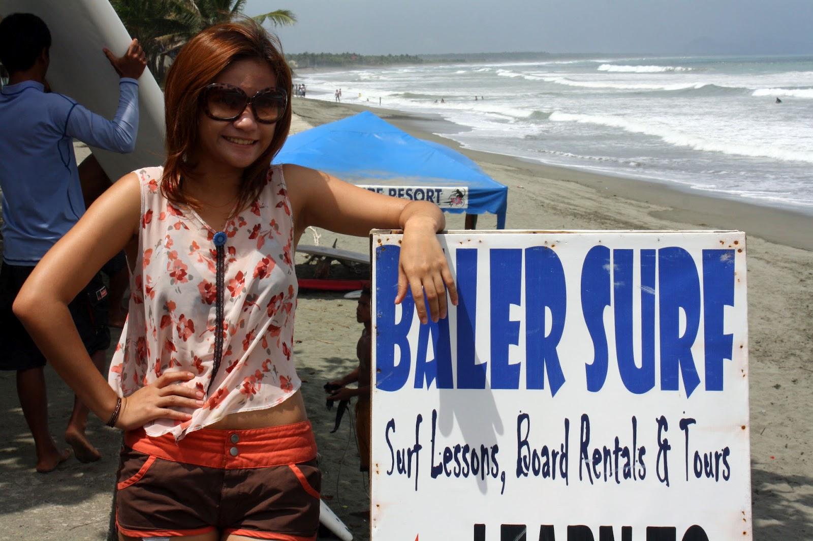 Surfing lessons at Baler, Aurora
