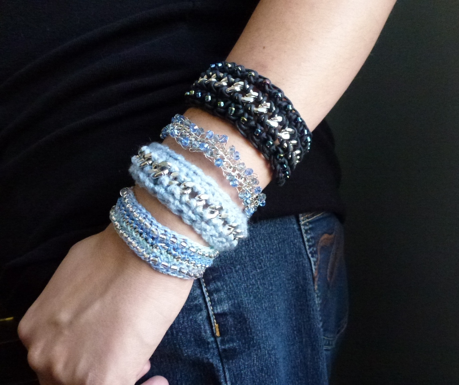 Crochet Jewelry Tutorial : Crochet and Chain Mixed Media Bracelet Tutorial ~ The Beading Gems ...