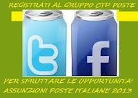 ASSUNZIONI POSTE ITALIANE 2013