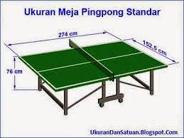 Ukuran standar meja pada tenis meja tenis meja - Dimension d une table de ping pong ...