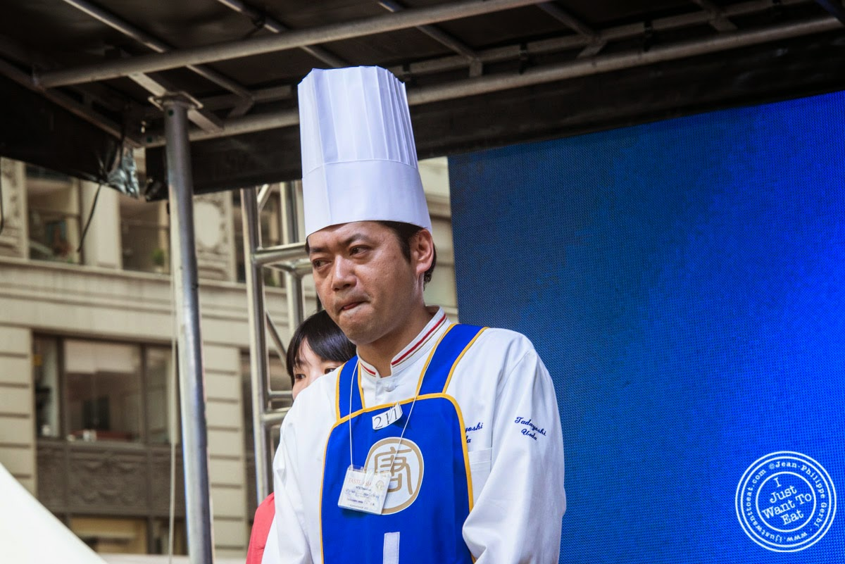 image of Chef Ueda Tadayoshi at Taste of Asia 2014: Huaiyang cuisine cook off