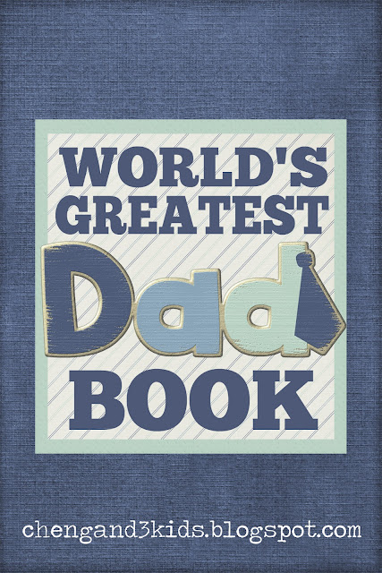 This is a free printable book for Father's Day or a gift for a dad's birthday.