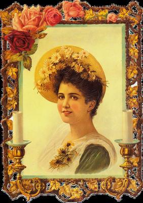 dama victoriana cromo vintage