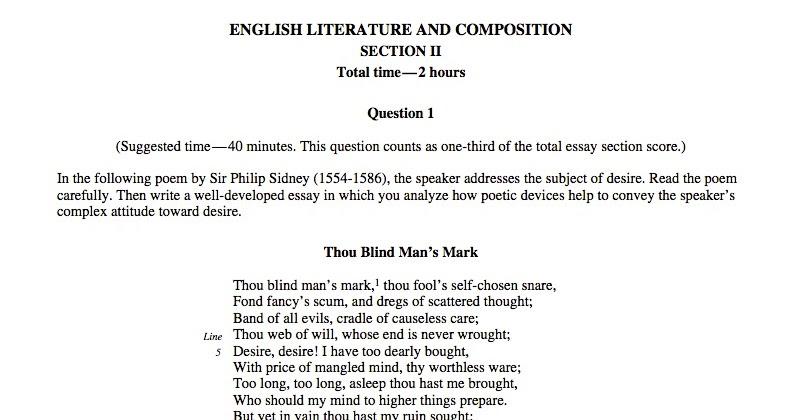ap language and composition definition essay