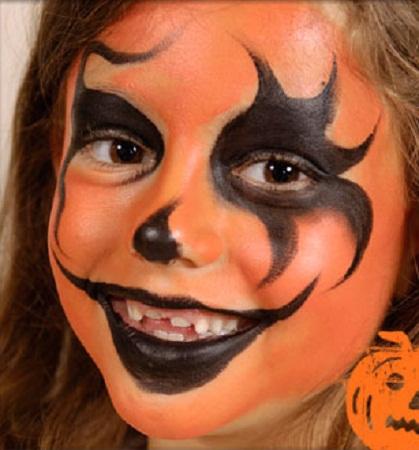 Caritas pintadas dise o calabaza fiestas - Calabazas pintadas para halloween ...