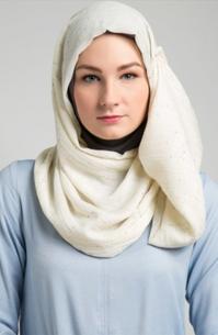 Contoh Model Hijab Modern Untuk Wajah Bulat