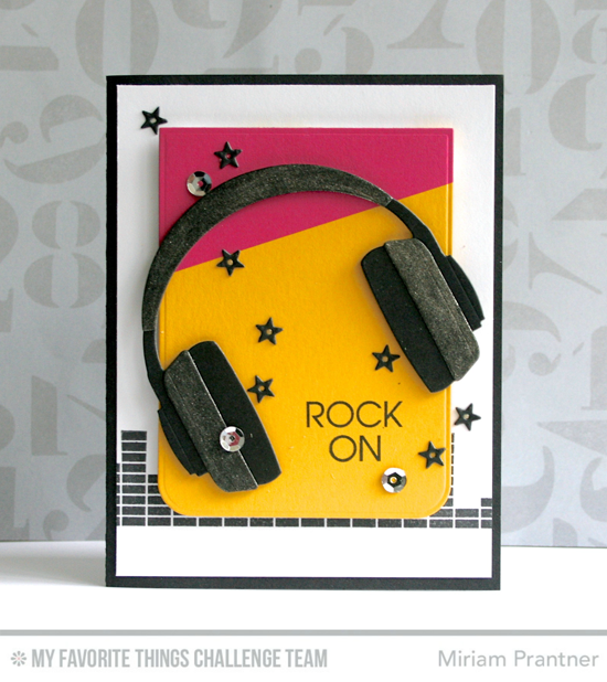 Rock On Card from Miriam Prantner featuring the Keep on Rockin' stamp set and Headphones Die-namics