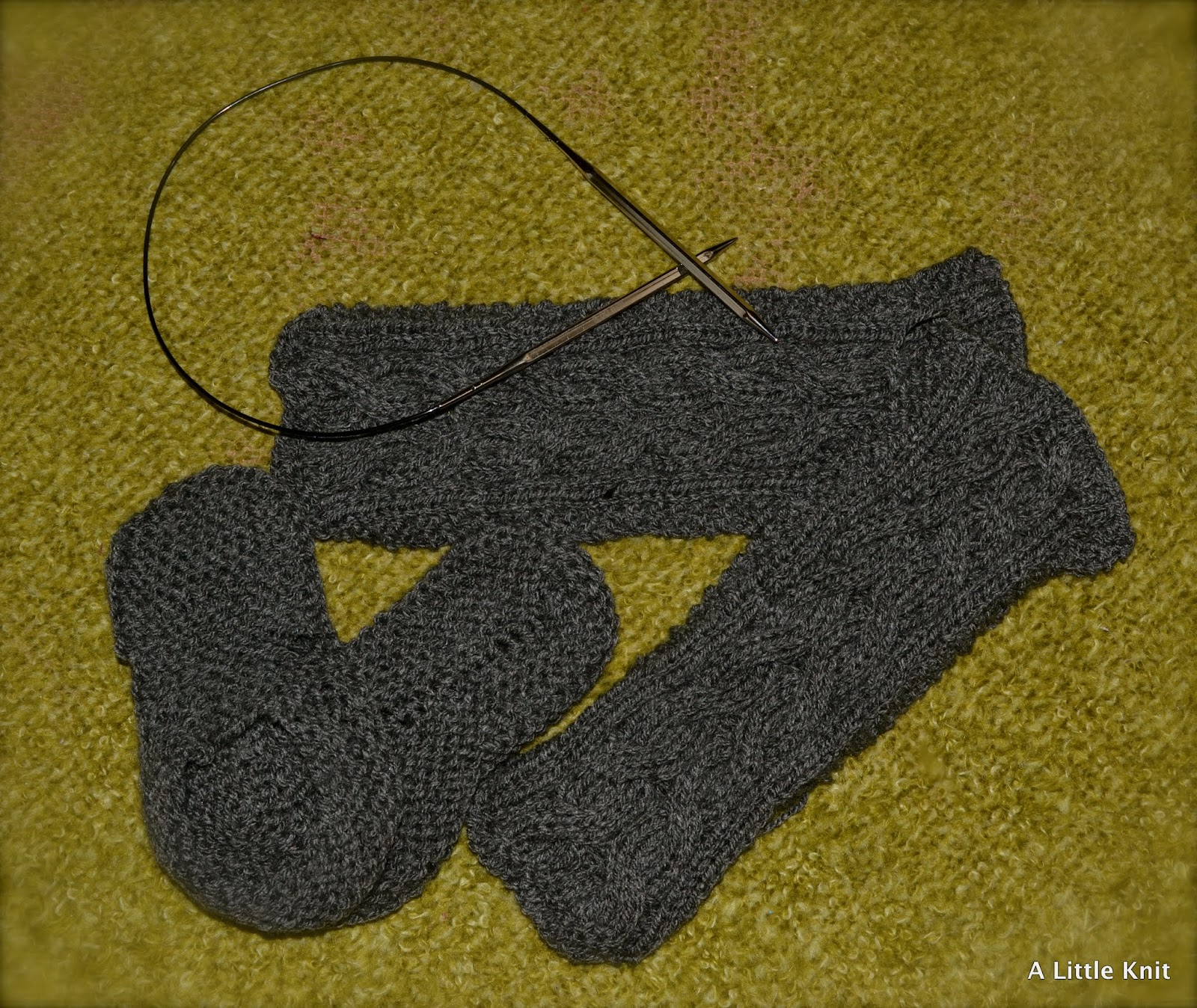 Knitted Drop Slippers