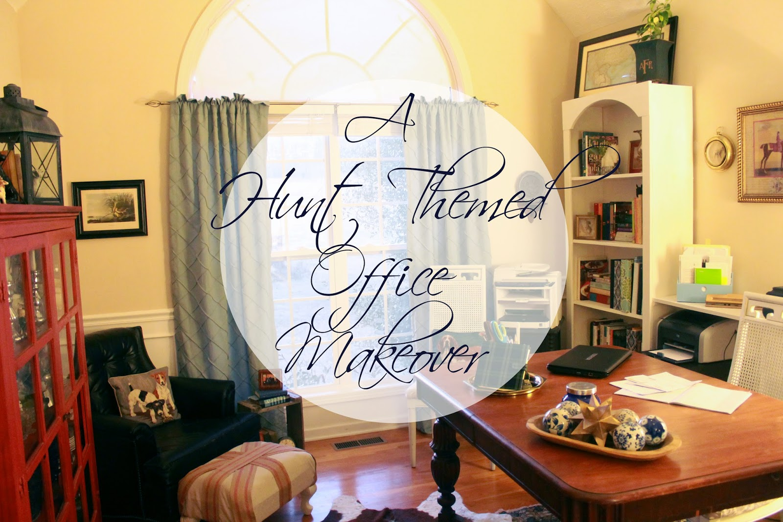 amazing office makeover with hunt theme