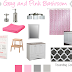 Gray and Pink Girls Bathroom