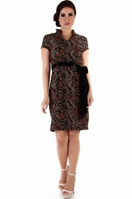 Nana Blanche NBBW-1030 Dress Batik - Hitam