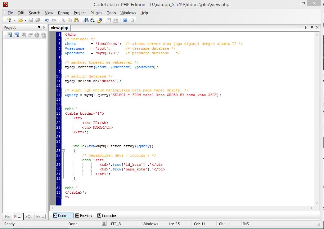 Menyimpan data ke database dengan php