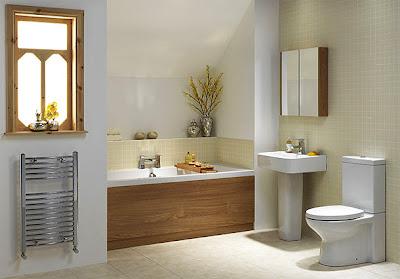 minimalist bathroom design with attractive wood