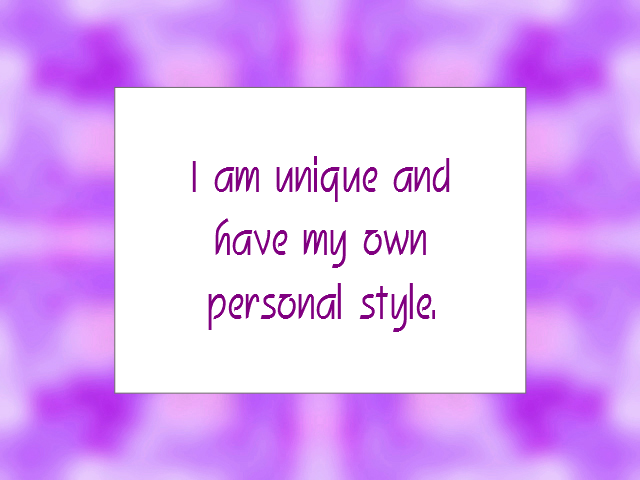 PERSONALITY affirmation
