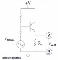 Emitter voltage in simplified schematic